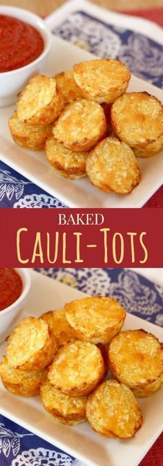 """Baked Cauli-Tots - move over tater tots, there's a healthier and veggie-packed new side dish in town! This is our family favorite, plus get my pro tips for perfect cauliflower tots! 