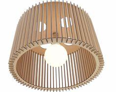 Lampara Colgante De Madera De Diseño Mdf Envío Gratis! - $ 590,00 en MercadoLibre