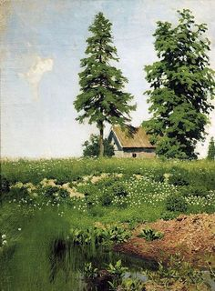 """Fan account of Isaac Levitan, a classical Russian landscape painter who advanced the genre of the """"mood landscape"""" Russian Landscape, Landscape Art, Landscape Paintings, Landscapes, Russian Painting, Russian Art, Oil Painting Reproductions, Traditional Paintings, Paintings I Love"""