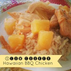 Slow Cooker Hawaiian BBQ Chicken | Treats and Trends