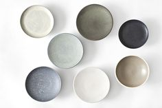Plates from Uh la la Ceramics with fabulous matte glazes.