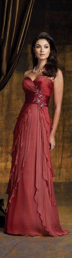 @roressclothes clothing ideas #women fashion red maxi dress ROJO Y MARRON....❤: