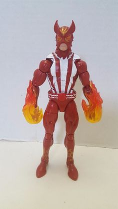 "MARVEL LEGENDS SERIES~X-MEN WARLOCK~2017~Sunfire 6"" FIGURE~LOOSE no BAF #Hasbro #xmen #shatterstar #warlock #marvel #marvellegends"