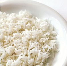 Boiled Basmati Rice--After soaking, I let it boil down (accidentally) and it was light and fluffy!