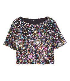 short sequined top| H&M US