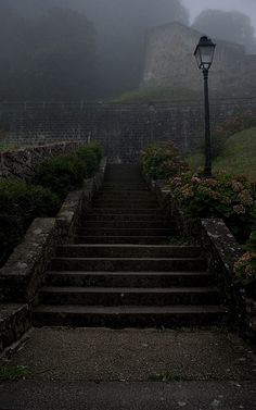 Camino de Santiago 2011 - Day One - St Jean Pied de Port - Morning Mist by Darran J, via Flickr