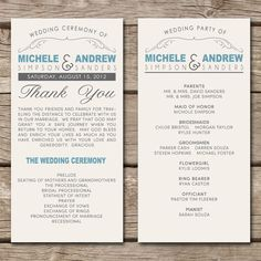 Great Layout For A Wedding TimelineProgram  Wedding Inspiration