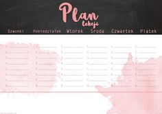 Plan lekcji dopobrania grafika szkoła To Do Checklist, School Timetable, School Planner, Stupid Funny Memes, Weekly Planner, Printable Planner, Lesson Plans, Back To School, Diy And Crafts