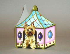 YorkshireTerrier in jewel box card by deborahmix on Etsy