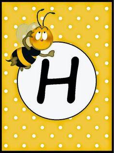 BulutsMom: Arı Temalı Doğum Günü Banner Harfleri Spelling Bee, Bee Party, Cute Bee, Flower Phone Wallpaper, Girl Themes, Bee Theme, Alphabet And Numbers, Projects To Try, Clip Art