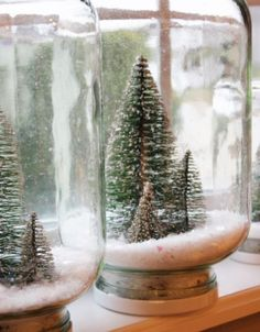 Liquid-less Snow globe craft