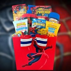 Spiderman Grooming Easter Gift Basket for Boys Perfect for Birthday or Get Well Basket.  List Price: $49.99  Sale Price: $36.99  Savings: $13.00