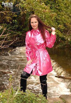 Mackintosh Raincoat, Pink Raincoat, Raincoats For Women, Rain Wear, Unisex, Women Wear, Leather Jacket, Womens Fashion, Sexy