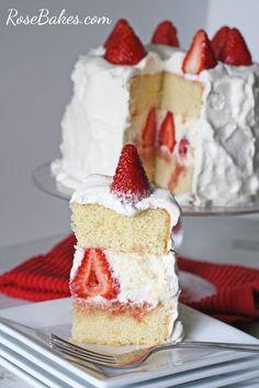 Strawberry Whipped Cream Cake Shortcake