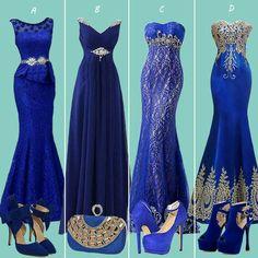 Blue night out dress