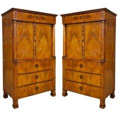 Pair of Biedermeier Cabinets Austrian