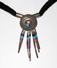 Southwestern Sterling Necklace / Concho w/ by CookieGrandma60, $28.00