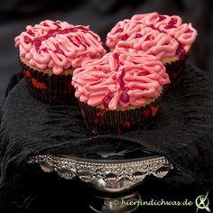 Gehirn-Muffin für Geburtstagsfeiern und Halloween