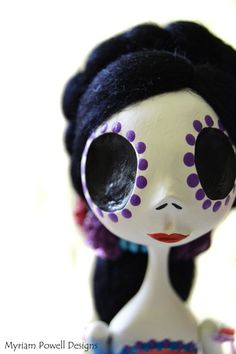 Day of the Dead -  Day of the Dead Doll -Dia de los muertos - Art Doll on Etsy, $100.00