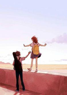Cute Couple Drawings, Cute Couple Art, Anime Couples Drawings, Cute Anime Couples, Cute Drawings, Illustration Mignonne, Japon Illustration, Cute Illustration, Love Wallpapers Romantic