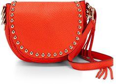 Rebecca Minkoff cross body Unlined cross body in poppy red. Red Purses, Cute Purses, Saddle Handbags, Saddle Bags, Studded Leather, Leather Purses, Red Leather, Cute Handbags, Purses And Handbags