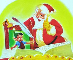 Happy Halfway Day !  Walt Disney's SANTA'S Toy Shop c.1950, a Little Golden Book.