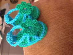 Hand Crocheted Baby Sandals Made To Order by KaysCutieBooties
