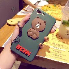 liebenswerte Bären Muster iPhone 6/7 Silikon Hülle