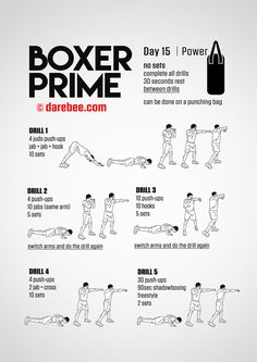 Boxer Prime: Fitness ProgramYou can find Boxing workout and more on our website. Shadow Boxing Workout, Boxing Training Workout, Home Boxing Workout, Boxer Training, Mma Workout, Gym Workout Tips, Boxing Workout With Bag, Boxing Basics, Boxing Routine