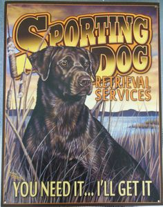 Wholesale LOT OF 6 Sporting Dog Black Lab Hunting Advertising Tin Sign #1772