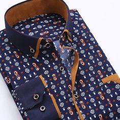 Men Dress Shirt 2016 Spring New Arrival Button Down Collar High Quality Long Sleeve Slim Fit Mens Business Shirts S-4XL YN026