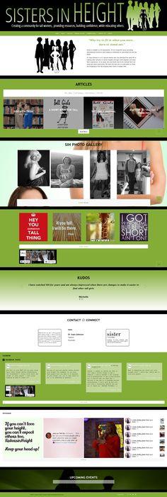 Tall girls website Tall Girls, Service Awards, Upcoming Events, Wordpress, Web Design, Website, Design Web, Website Designs, Site Design