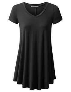 URBANCLEO Womens Basic eLong Tunic Top Mini T-shirt Dress (PLUS Size Available) ** See this awesome image @ http://www.amazon.com/gp/product/B01EVQUD00/?tag=passion4fashion003e-20&kl=030816214835