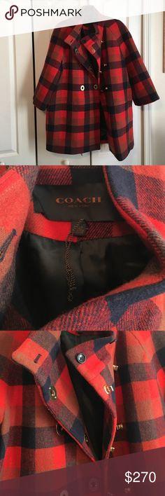 Coach Ladies Coat Size Large Worn Once Coach Coat Size Large Coach Jackets & Coats