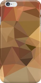 Camel Brown Abstract Low Polygon Background by retrovectors