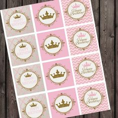 pink and gold princess invitation Royal by AmysSimpleDesigns