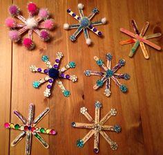 Manualidades navideñas con palitos de madera - Dale Detalles