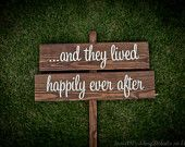 wooden sign for wedding reception