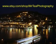 Stunning night timelapse photograph of Kingswear from Dartmouth Devon by MrTeaPhotography on Etsy, £10.00