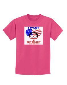 TooLoud I Want Bernie - Sanders 2016 Childrens Dark T-Shirt