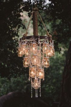 Vintage Wedding Ideas With The Cutest Details Mason Jar Chandelier And Chandeliers