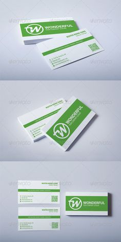 Business card size the size of the card you design should be 2125 green business card colourmoves