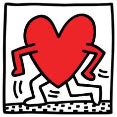 Untitled (heart) Keith Haring