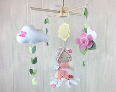 Baby mobile elephant mobile moon mobile by JuniperStreetDesigns