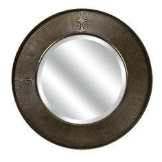 CKI Harcourt Bronze Brass Classic Modern Round Wall Mirror D | Furniture, home decor, wall decor, rugs, lamps, lighting outlet.