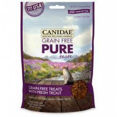 Canidae Grain Free Pure Taste Cat Treats with Fresh Trout is a grain free healthy treat cats love. Made entirely without grain, these delicious gluten-free cat treats are all about taste - Pure Taste. Cats go wild for the mouth watering flavor of fresh fish.