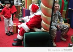 A child wanting his daddy home for Christmas. This is no more than then the truth of the military family.