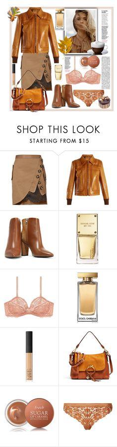"""Leather Jacket"" by natalyapril1976 on Polyvore featuring Mode, self-portrait, Prada, IRO, Michael Kors, Gossard, Dolce&Gabbana, NARS Cosmetics, See by Chloé und Fresh"