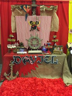 Love this Mickey Mouse pirate birthday party! See more party planning ideas at CatchMyParty.com!