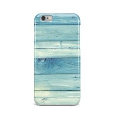 Blue Vintage Wooden Hard Case Cover Apple iPhone 4 4S 5 5S 5c SE 6 6S 7 Plus #Apple